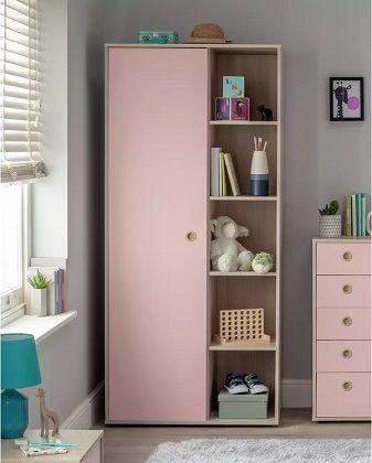 Argos Home Camden 1 Door Shelf Pink Wardrobe