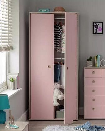 Argos Home Camden 2 Door Pink Wardrobe