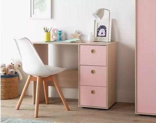 Argos Home Camden 3 Drawer Desk - Pink