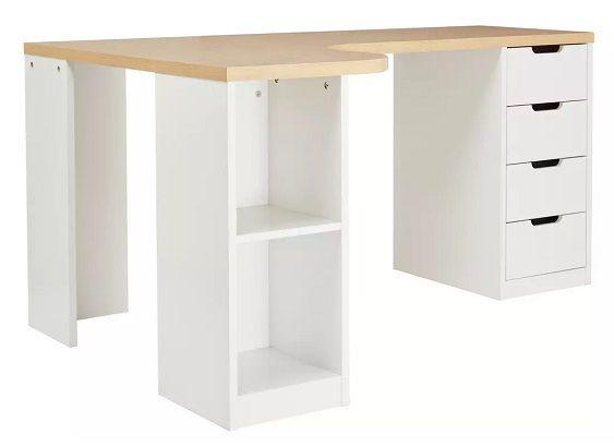 Argos Home Corner Office Desk - Two Tone
