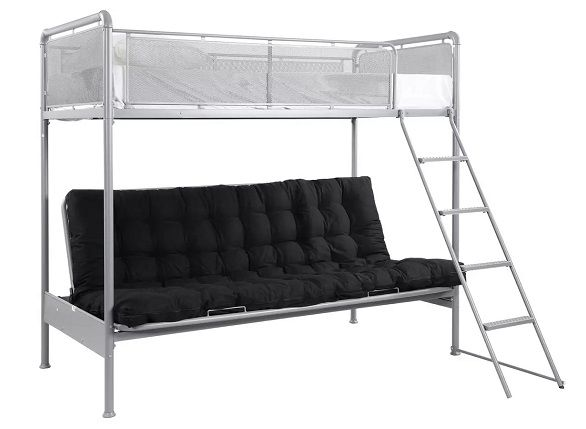 Argos Home Maddox Grey Futon Bunk Bed Frame