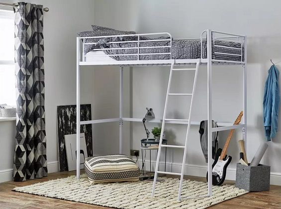 Argos Home Riley White Metal High Sleeper Bed Frame