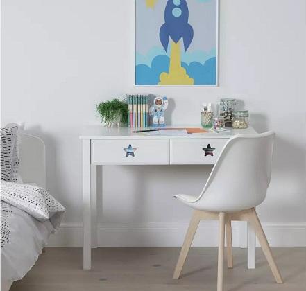 Argos Home Stars 2 Drawer Desk - White