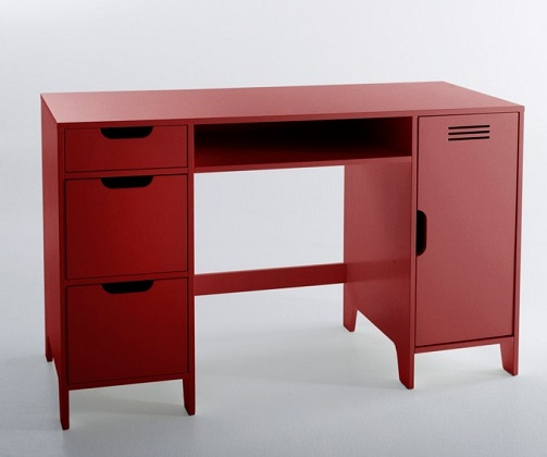 Asper Child Metal Desk with Double Cabinets