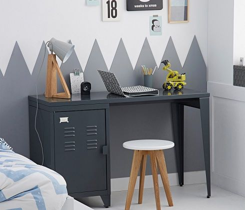 Asper Child's Desk with Double Cabinets