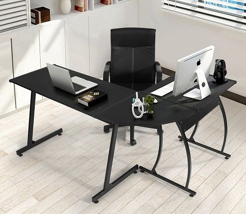 Computer Office Desk L-Shaped, by Coavas