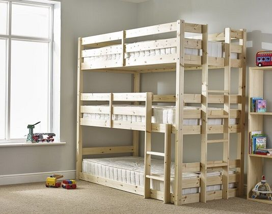 Derby 3 Tier Bunk Bed, by Just Kids