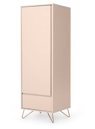 Elona Single Pink Wardrobe with drawer