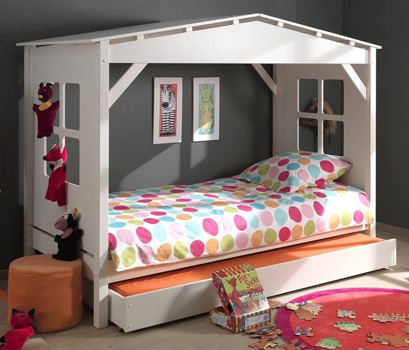 Ethridge Single House Bed with Trundle, by Zoomie Kids
