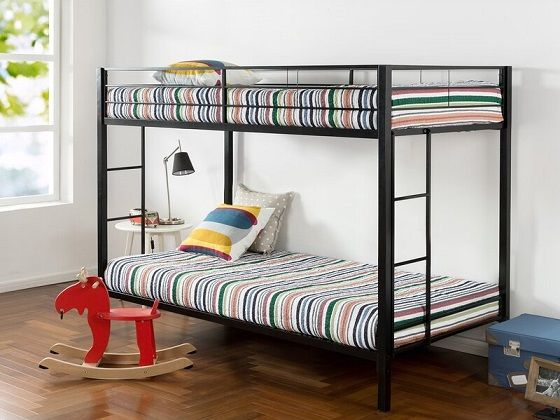 Kline Single Metal Bunk Bed, by Symple Stuff