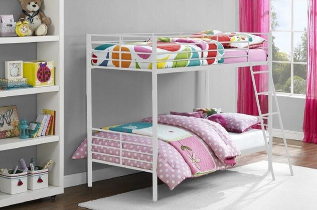 Mia Single Metal Bunk Bed, by Harriet Bee