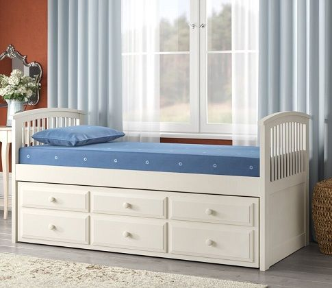Naomie Daybed with Trundle and Mattress
