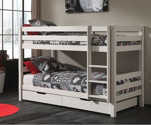 Pino Kids Bunk Bed in 3 Heights with Mattresses