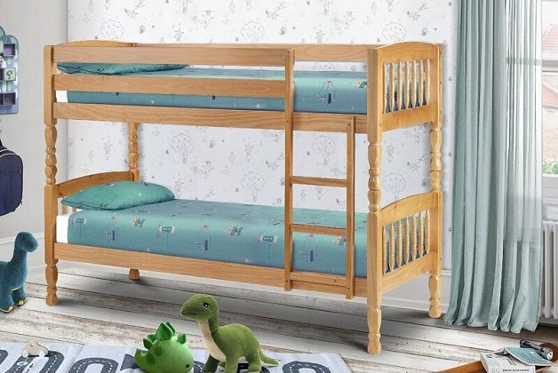 Sela Single Bunk Bed with Mattresses included, by Harriet Bee