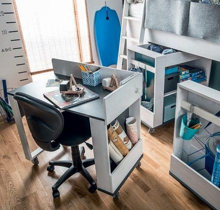Vox Nest Cabin Bed Study Desk for Corner