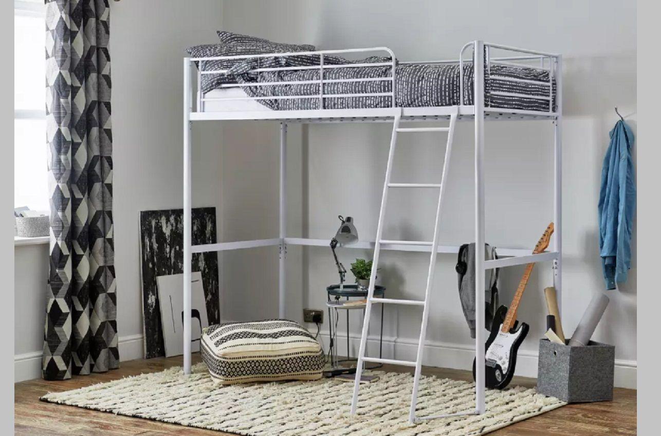 best metal high sleeper bed riley by argos