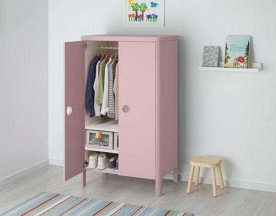 busunge wardrobe light pink by ikea