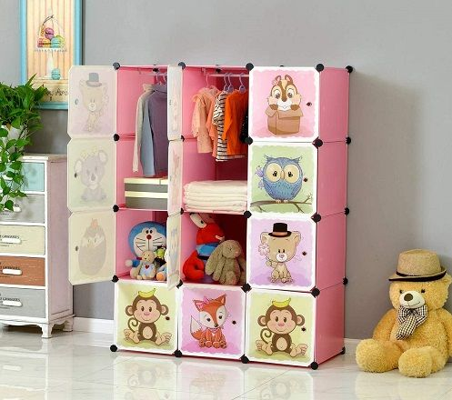 modular storage wardrobe in pink by brian & dany