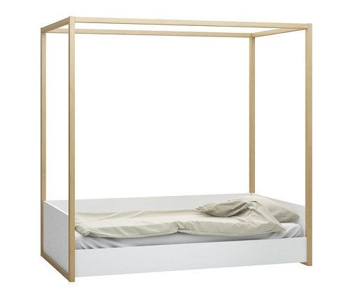 4 Poster Single Bed with Adjustable Height Levels low and high