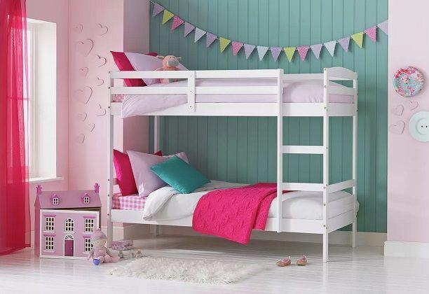 Argos Home Josie Shorty Bunk Bed & 2 Kids Mattresses