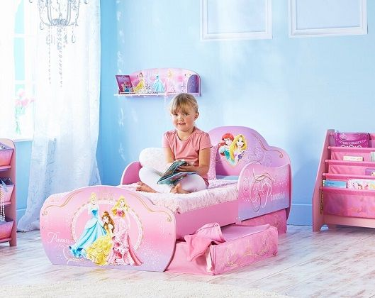 Disney Princess Convertible Toddler Bed with Drawers
