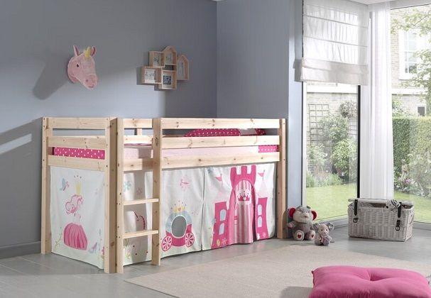 Escalera Mid Sleeper Bed, by Zoomie Kids