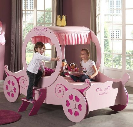 Estepp European Single Princess Carriage Bed, by Zoomie Kids