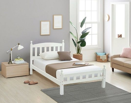 Florence Low Bed Frame, by Rosalind Wheeler