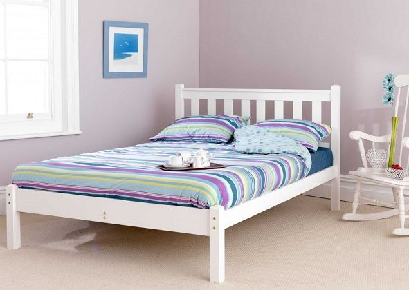 Shaker Low Foot Pine Bed Frame