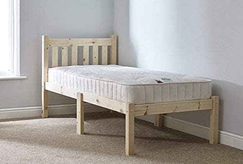 Short Bed Frame with Mattress 2ft6