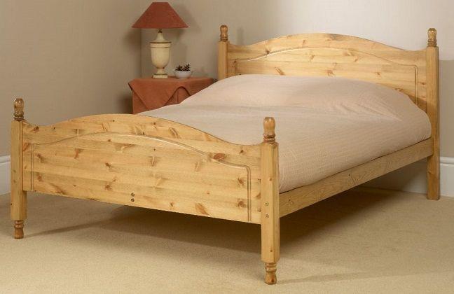 amborne High Foot Pine Shorty Bed Frame