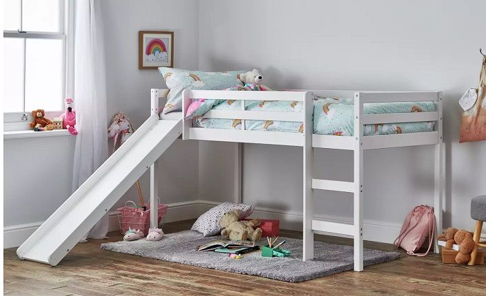 Argos Home Kaycie Mid Sleeper with Slide White