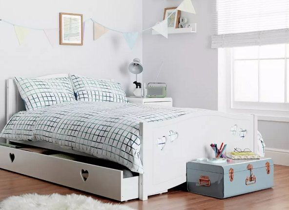 Argos Home Mia Small Double Bed, Drawer & Kids Mattress