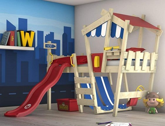 WICKEY Children's Adventure Bed with Slide