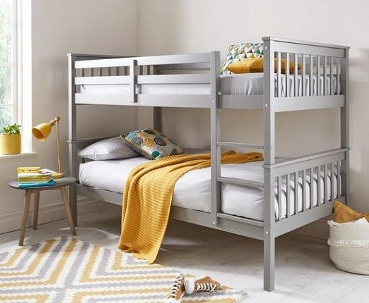 Novara Detachable Bunk Bed - Grey