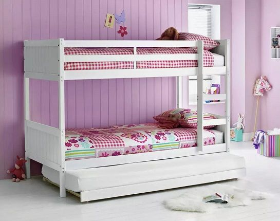 Argos Home Detachable Bunk Bed with Trundle in White