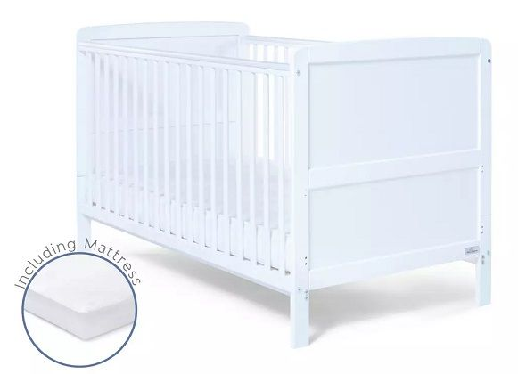 Baby Elegance Travis Baby Cot Bed with Mattress