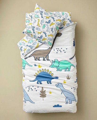 Children's Duvet Cover + Pillowcase Set, Dinosaur Theme