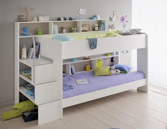 Lydia Bunk Bed Frame with Stairs