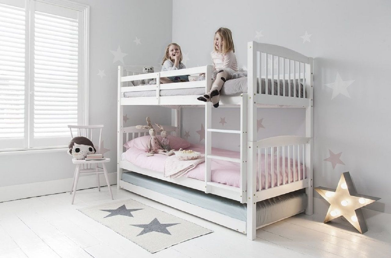 Bunk Beds With Trundle For Extra Sleeping Storage Space