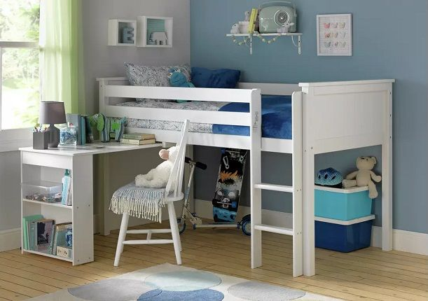 Argos Home Brooklyn Mid Sleeper Bed Frame with Desk