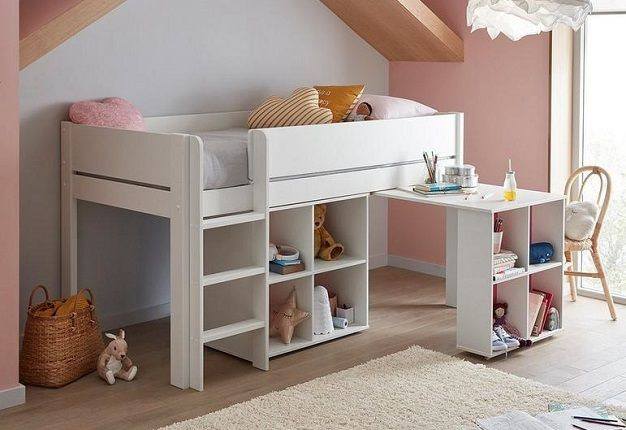 Tinsley Mid Sleeper Bed Frame with Storage and Desk