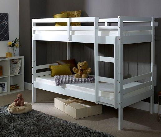 Durham White Wooden Bunk Bed