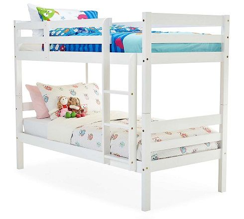 panama pine bunk bed in white
