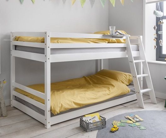 Hilda Cabin Bed with Bunk Underbed and Play Area in Classic White