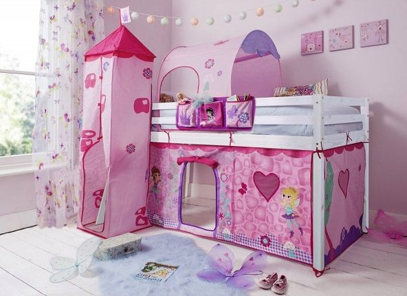 Moro Cabin Bed Midsleeper with Fairies Package