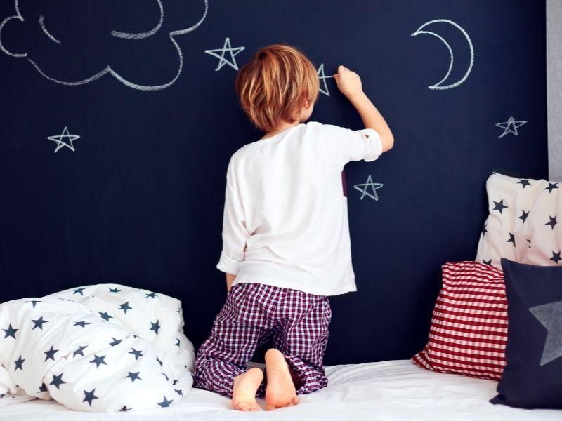 chalkboard wall for kids bedroom