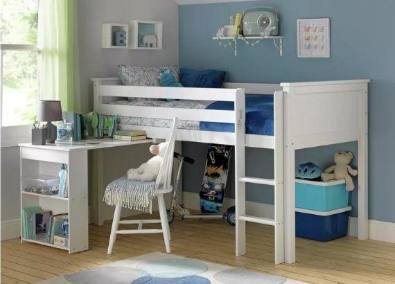Argos Home Brooklyn Mid Sleeper Bed Frame with Desk